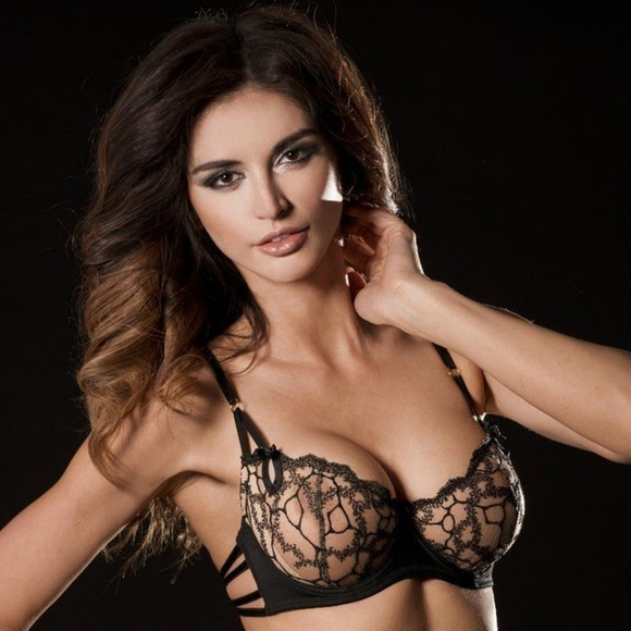 a300bcd0be Caprice Other - Caprice Sheer Mesh Lace Demi Cup Underwire Bra